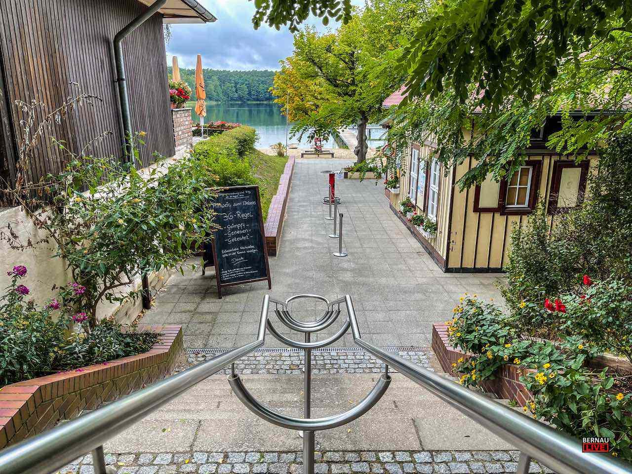 Eingang Strandbad Wukensee Bernau LIVE